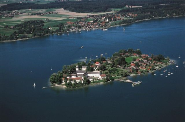 Chiemsee Golf Elsa Honecker Fraueninsel von oben