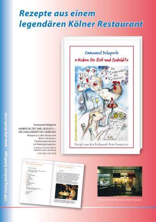 Emmanuel Delaporte Buchplakat Haben Sie Zeit und Geduld - Die Langsamkeit des Genusses