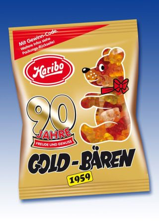 Haribo 90 Jahre Goldbaeren 1959 Tuete Gewinnspiel