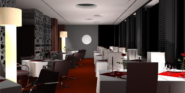 So könnte es aussehen / Entwurf des Architekten - Hotel Vier Jahreszeiten Starnberg Illu Nacht Rückwand Basic