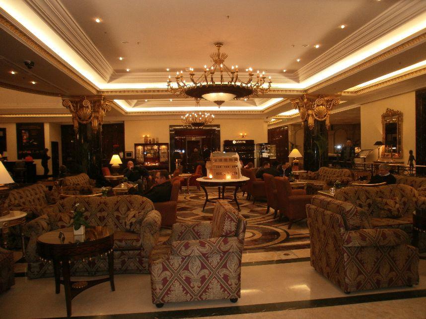 Moskau Genuss Glamour fuer Ausgeschlafene Doerte Behrmann energa RitzCarlton Moskau lobby 2011