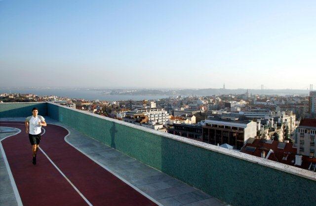The Ritz Hotel Lisbon Portugal Jogging-Rundkurs und Tartan-Bahn
