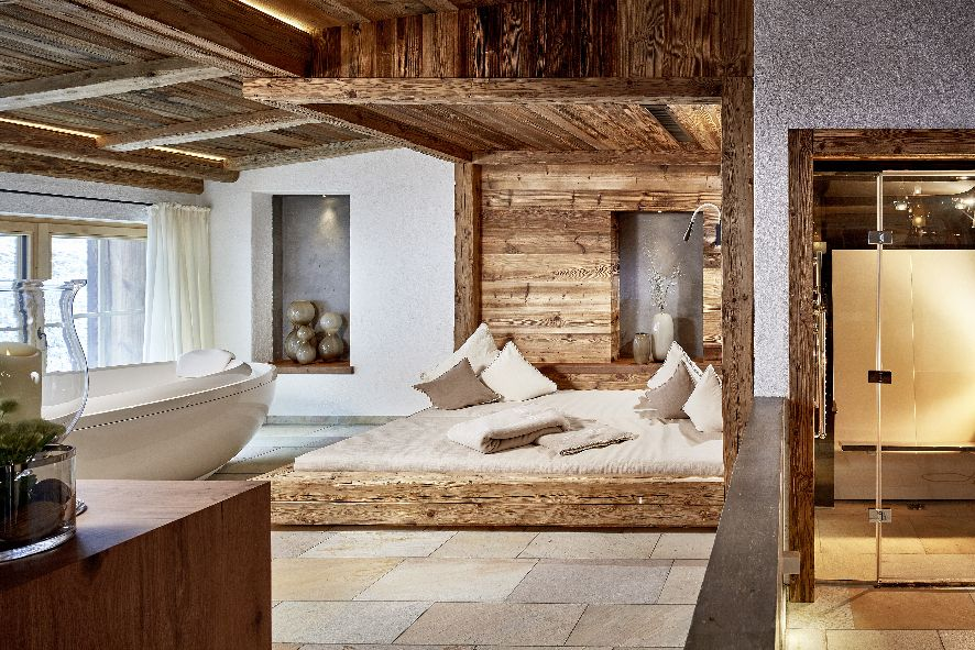 Relais Chateaux Hotel Jagdhof Neustift Stubaital Spa CHALET private spa view 29