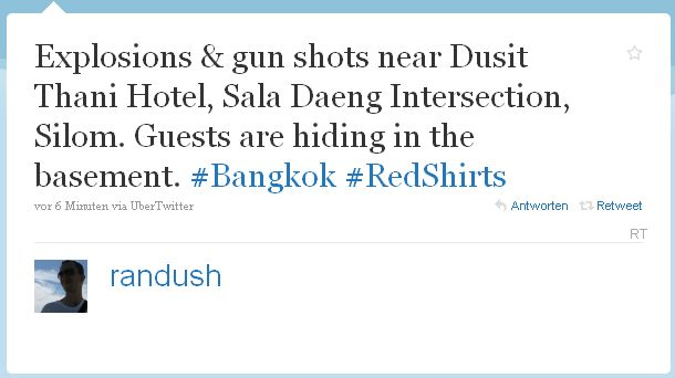 Twitter Dusit Thani Fire