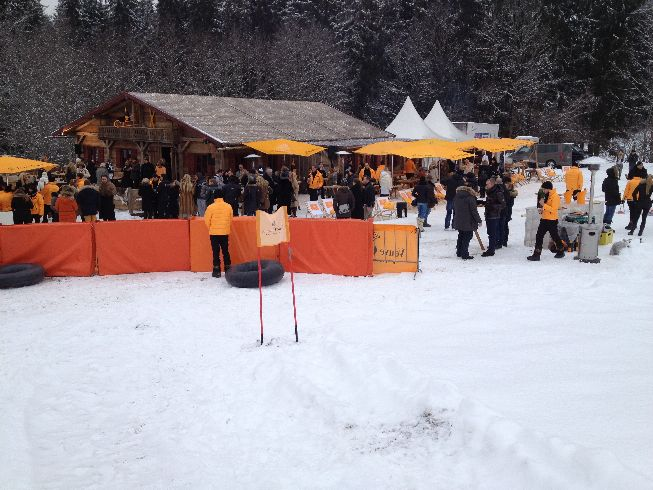 Veuve Clicquot in the snow Joerg Hohenfeld Jan2013