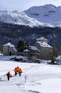 1. Schneegolf St. Moritz am Fuss des Corvatsch