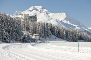 Waldhaus Sils Maria Aussenansicht Winter - Foto von Gian Giovanoli