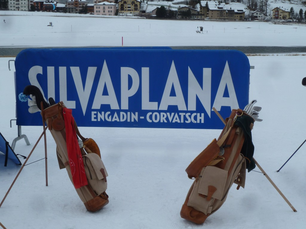 Schneegolf in St. Moritz Silvaplan