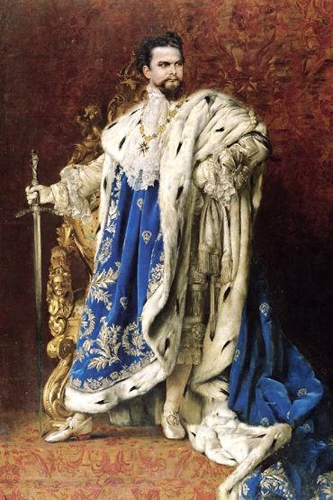 Ludwig II, Portrait von Gabriel Schachinger