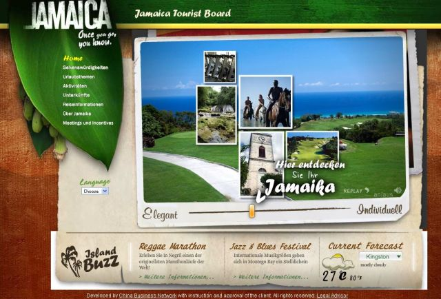 Jamaika Tourist Board german screenshot