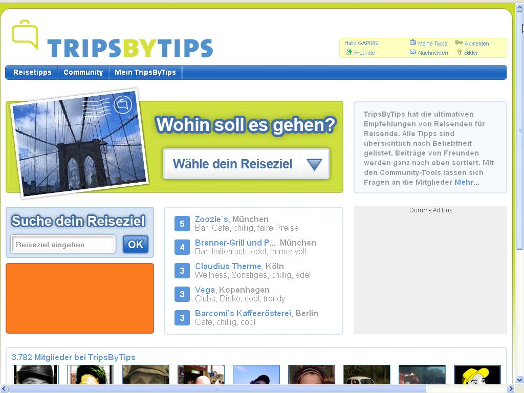 Trips by Tips Screenshot