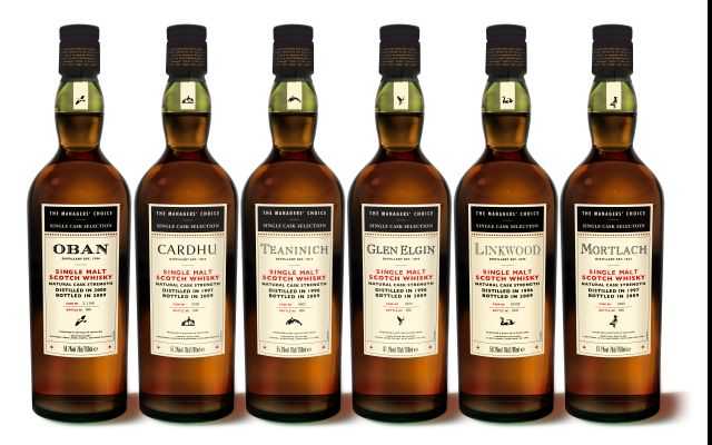 The Managers' Choice diageo classic malts selection