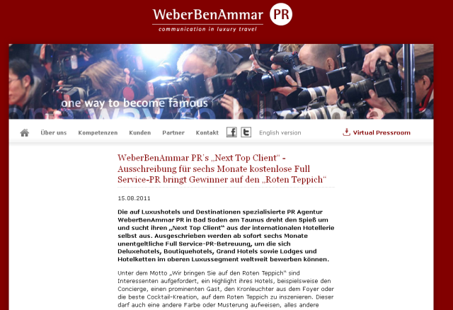 Weber BenAmmar Next Top Client screenshot