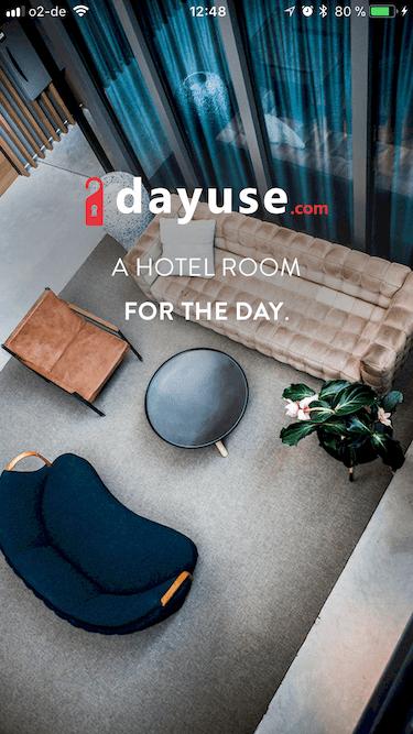 Dayuse App Stundenhotel Tageszimmer